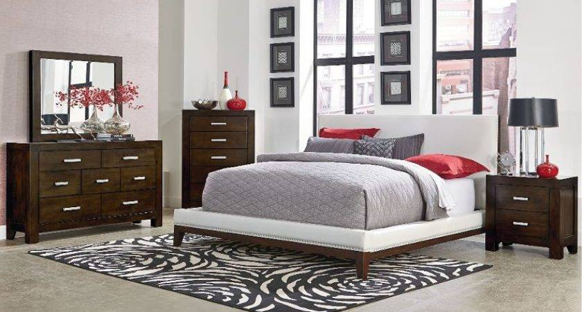 Couture Piece White Chocolate Brown Queen Bedroom Set