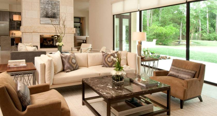 Cozy Comfortable American Living Room Interior