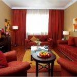Cream Brown Red Living Room Ideas