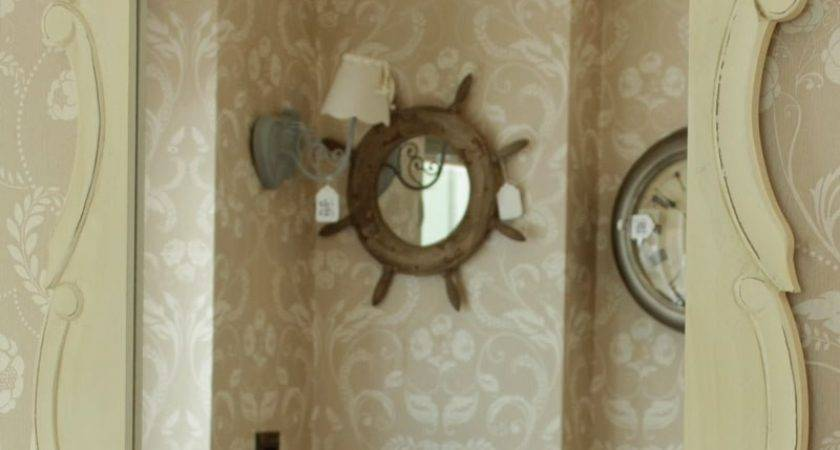 Cream Wooden Wall Mirror Shabby Chic Style Home Furniture