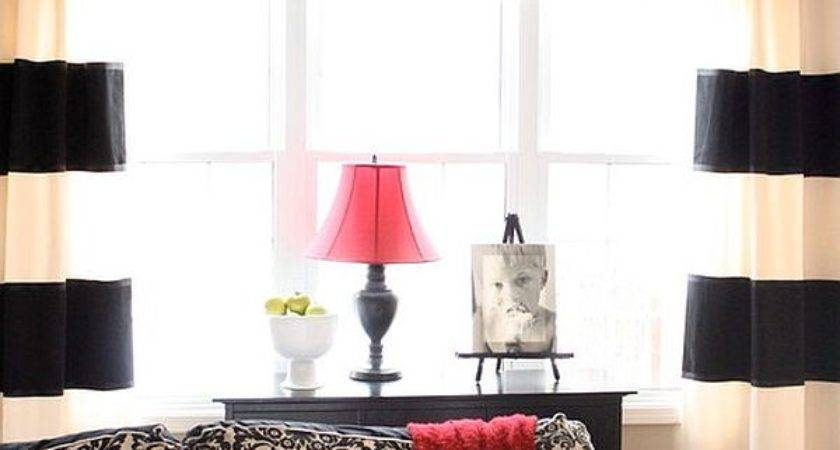 Creative Black White Patterned Curtain Ideas