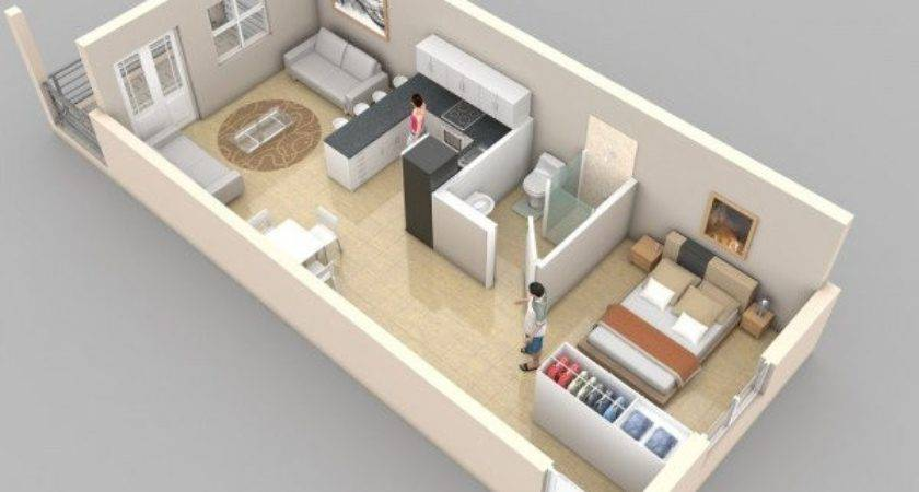 Creative One Bedroom House Plans Promote Eco Friendly
