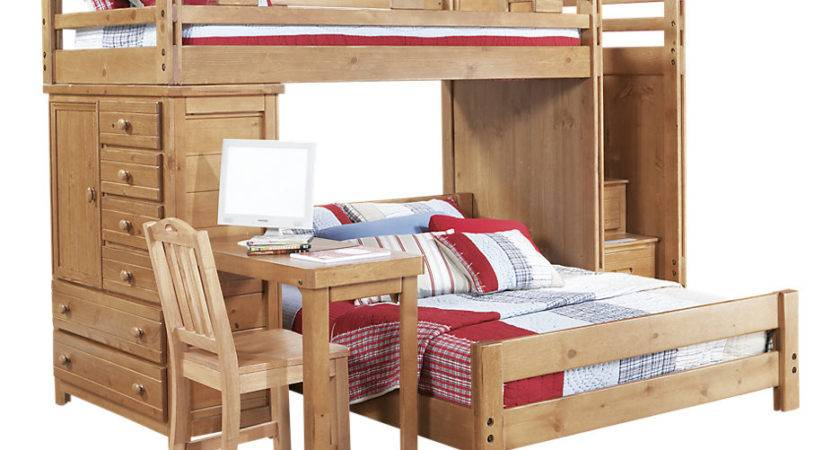 Creekside Taffy Twin Step Bunk Bed Desk