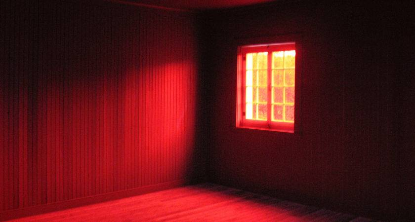 Crimson Red Room Interior Surreal Spooky Window Gbrosseau