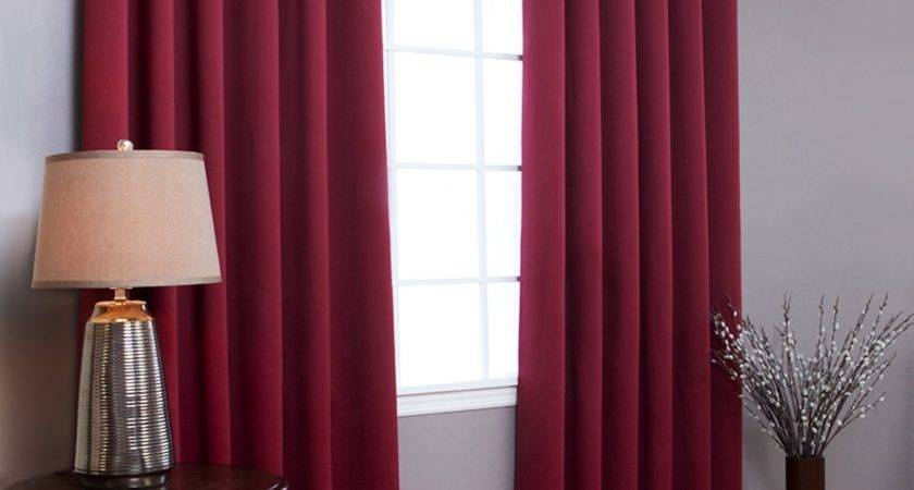 Curtain Ideas Red Walls Decorate House