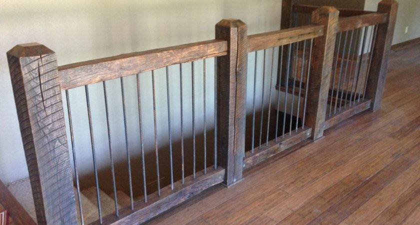 Custom Reclaimed Stair Railings Stone Creek Cabinetry