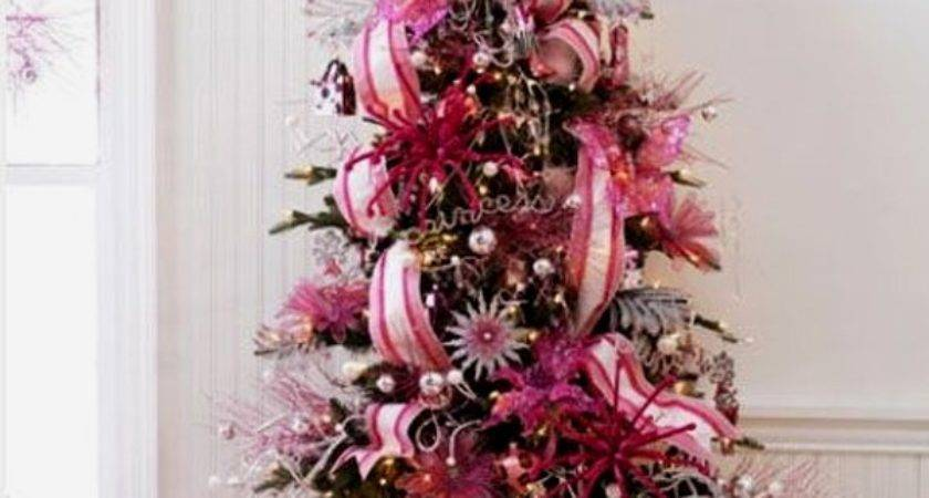 Cute Beautiful Pink Christmas Tree Decorations Design