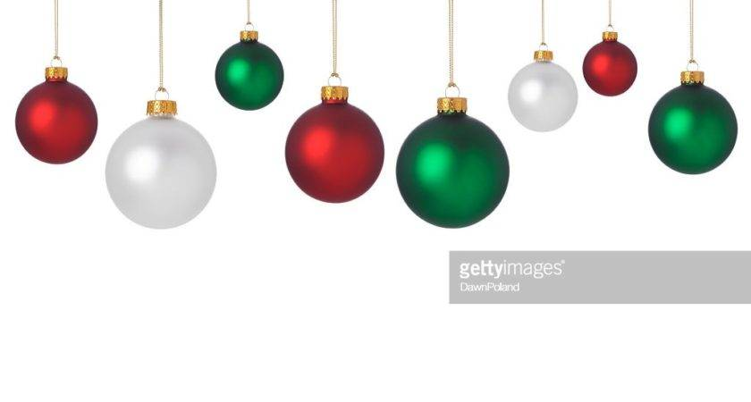 Dangling Red Green White Christmas Ornaments