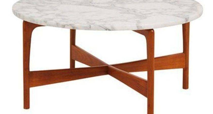 Danish Modern Teak Marble Top Coffee Table Chairish