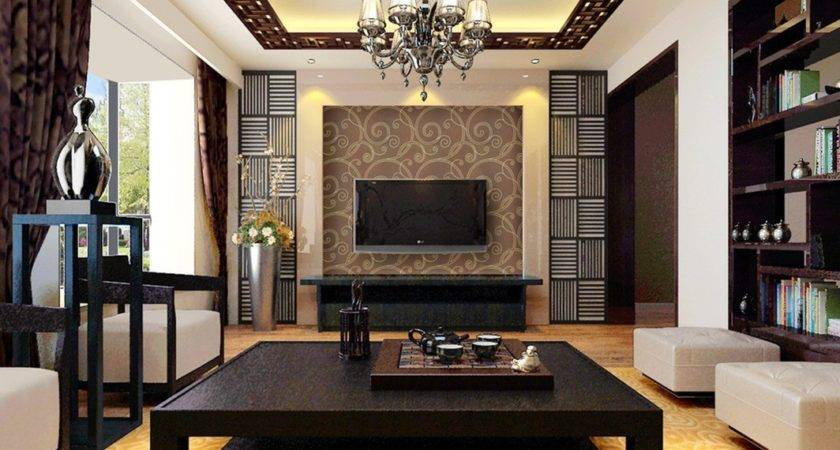 Dark Brown Furniture Design Chinese Style Living Room