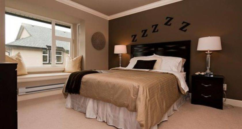 Dark Brown Paint Color Accent Wall