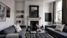 Dark Warm Grey Living Room Ideas Red