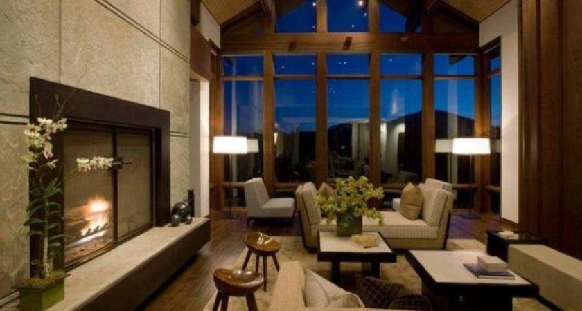 Decorate Living Room Large Windows