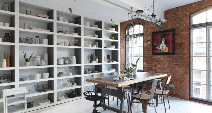 Decorate Long Wall Dining Room Industrial Storage