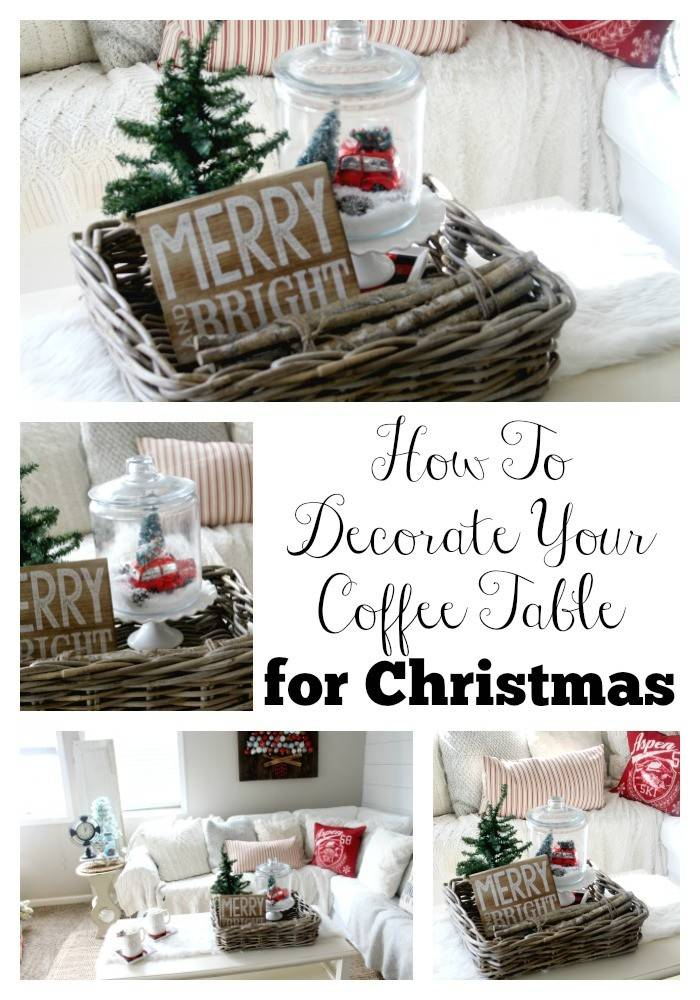 Decorate Your Coffee Table Christmas Glam - Designs Chaos