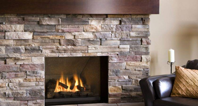 Decorations Striking Natural Stone Fireplace Design Also