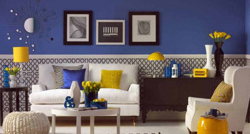 Deep Blue Living Rooms Decoholic
