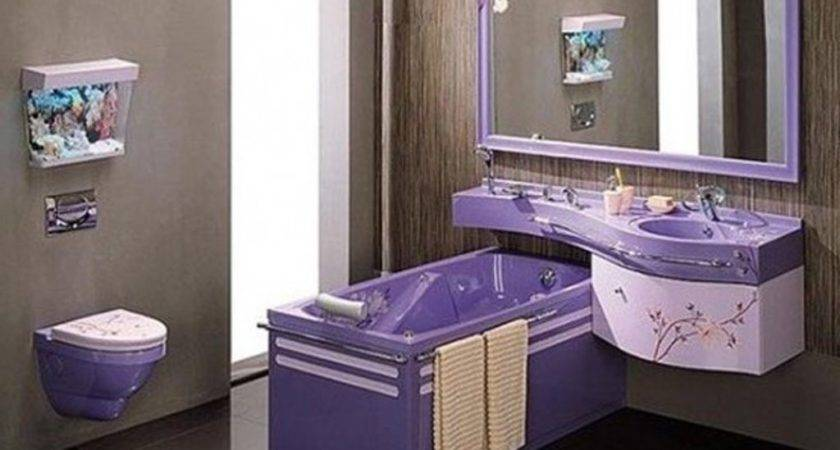 Delectable Purple Bathroom Design Inspiration