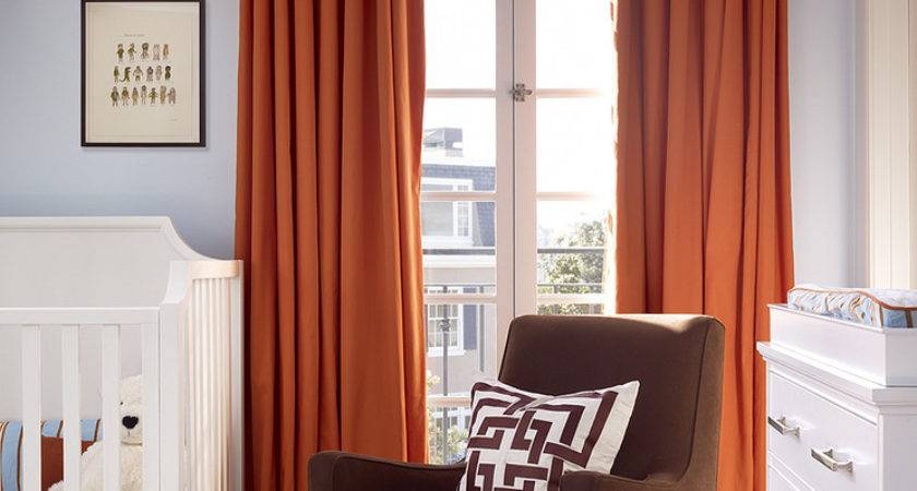 Delightful Brown Green Drapes Decorating Ideas