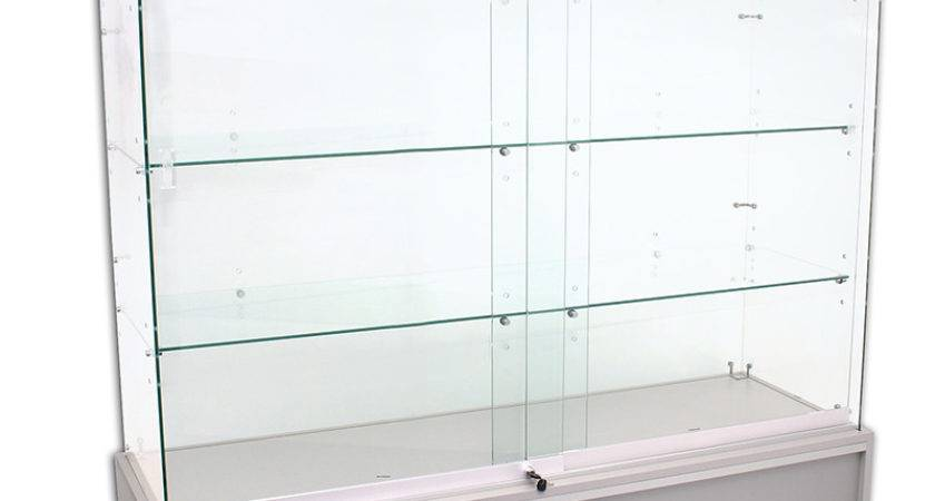 Deluxe Frameless Display Cabinet Storage