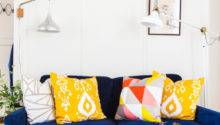 Design Fixation Navy Blue Mustard Yellow Home Decor