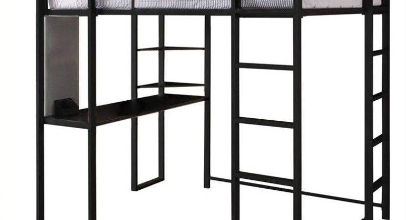 Dhp Abode Metal Loft Bed Black Ebay