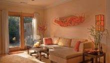 Different Colors Living Room Peach Walls