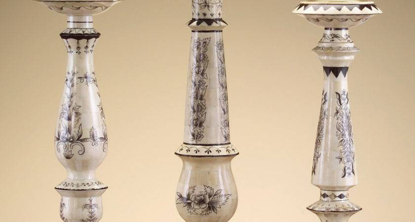 Different Type Pillar Candle Holders Decors
