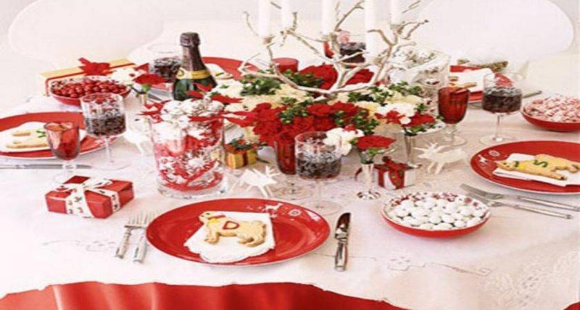 Dining Room Place Settings Christmas Table Setting Simple