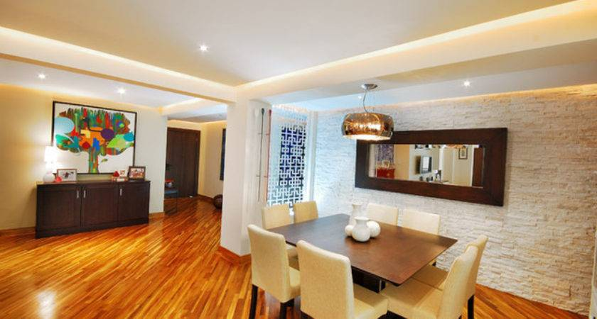 Dining Room Stone Wall