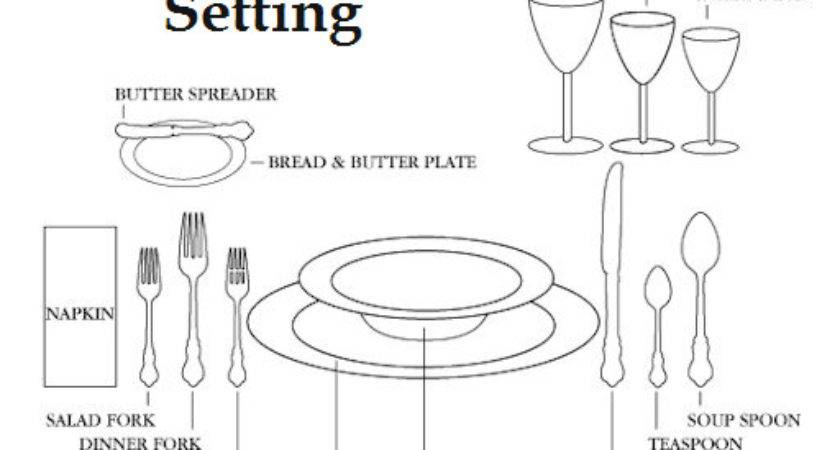 Dining Table Formal Layout
