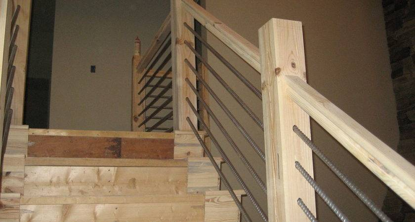 Diy Cable Railing Stairs Kitchen