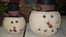 Diy Primitive Christmas Decor Paper Mache