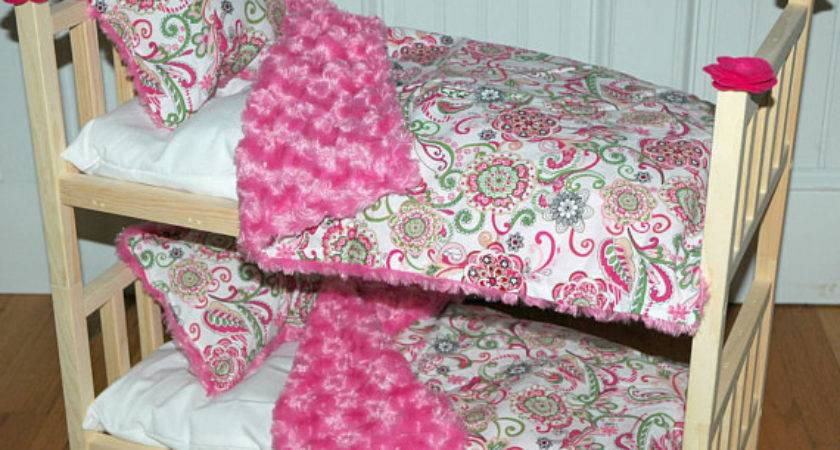 Doll Bed Bunk Shabby Chic Roses Fits Girldollbeds