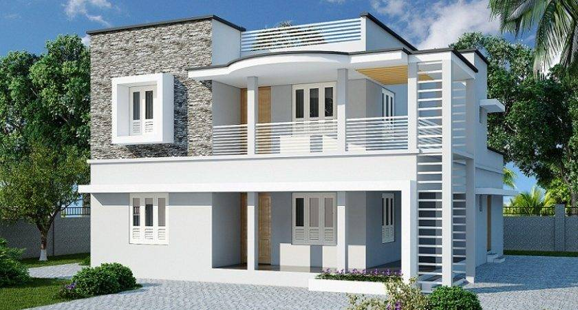 Double Floor Contemporary Home Designs