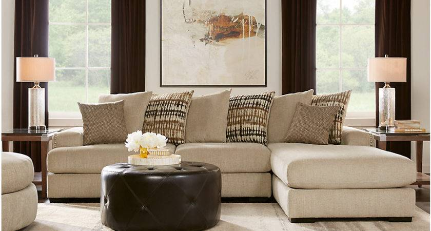 Doverton Beige Sectional Living Room