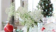 Dreamy Whites Simple Christmas Table Setting