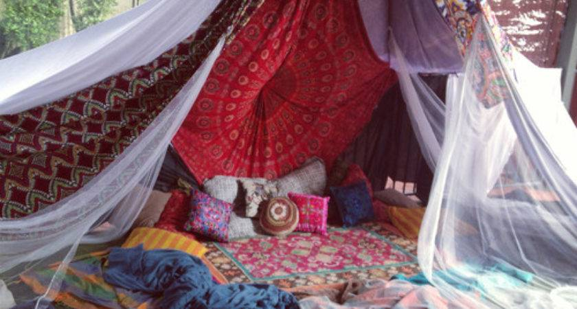Drowning Boho Canopy Bed House