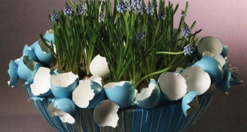 Easter Decorations Made Egg Shells Creative