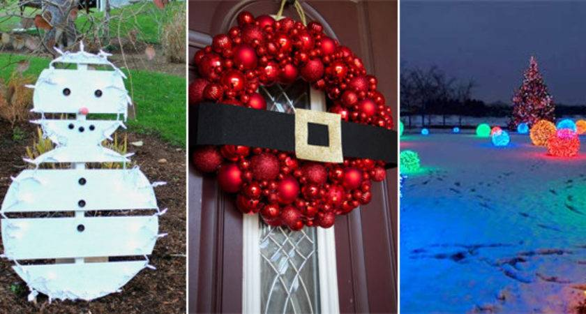 Easy Cheap Diy Outdoor Christmas Decoration Ideas