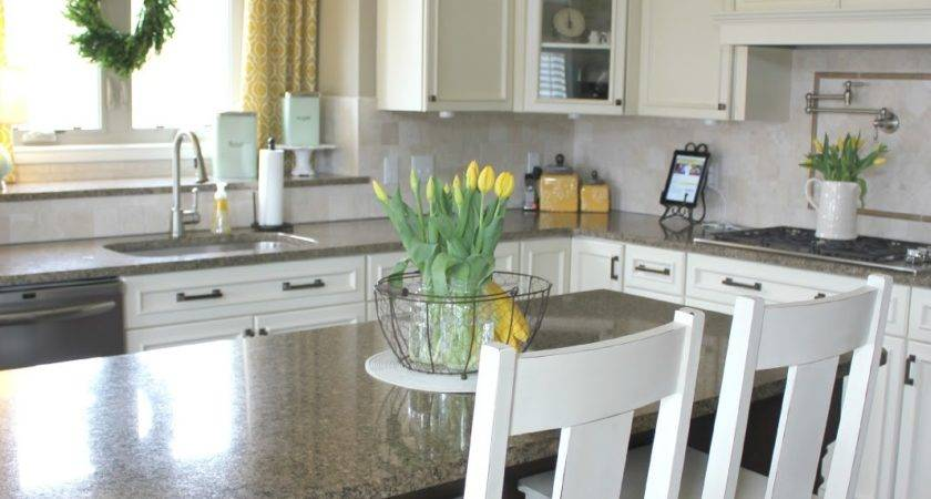Elementary Design Yellow Gray Turquoise Kitchen