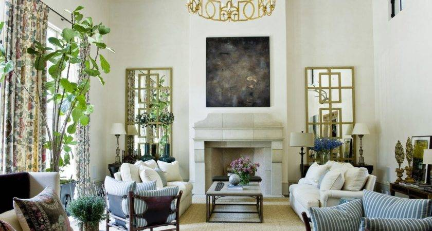 English Country Living Room Suzanne Kasler Interiors