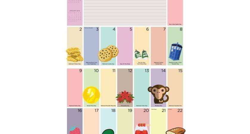 Every Day Holiday Wall Calendar