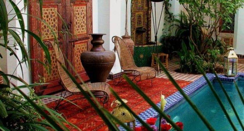 Exotic Moroccan Patios Courtyards Ultimate Home Ideas