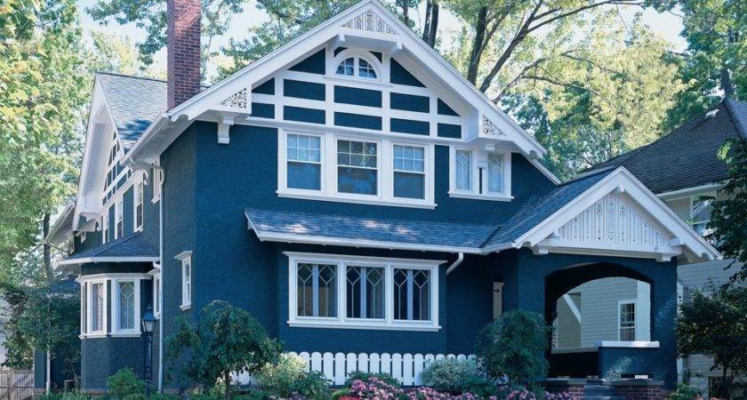 Exterior Paint Colors Blue House Ranch