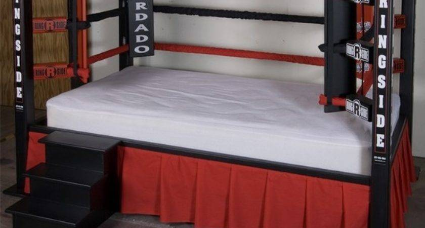 Fancy Boxing Ring Twin Bed Sports Themed Furniture