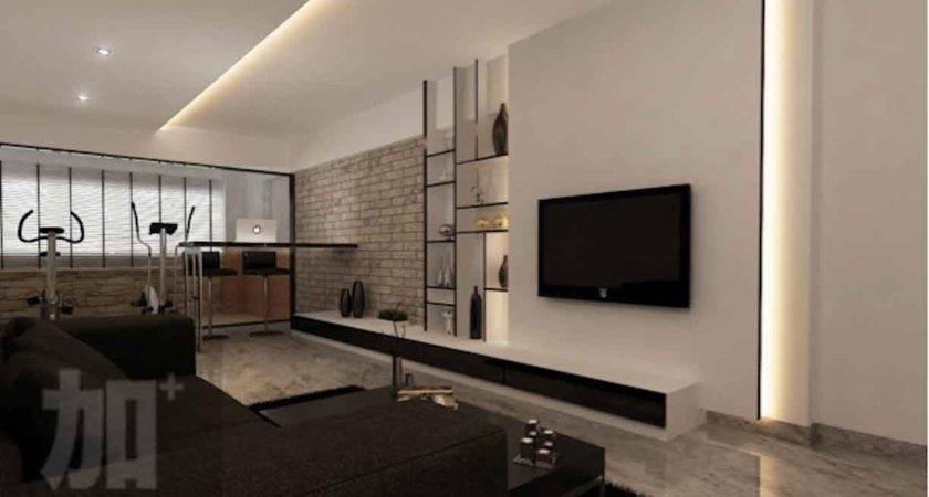 Feature Wall Design Living Room Donchilei