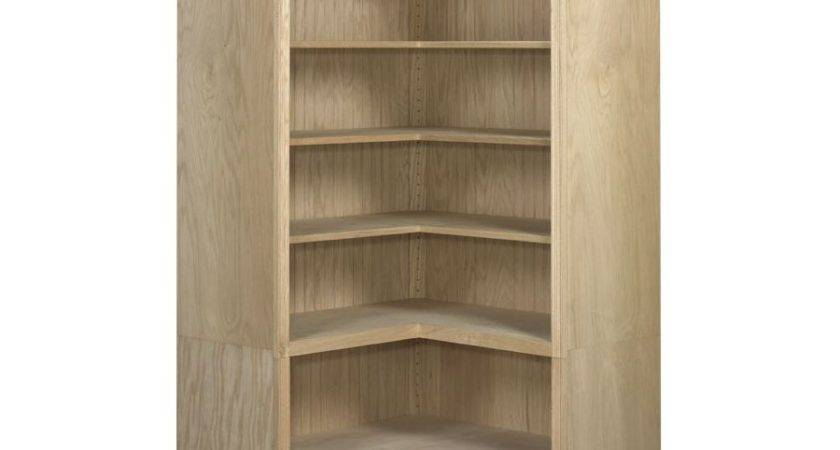 Federal Corner Bookcases Open Awb Wood