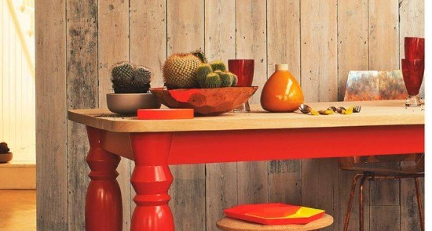 Fiery Red Orange Dining Room Decorating