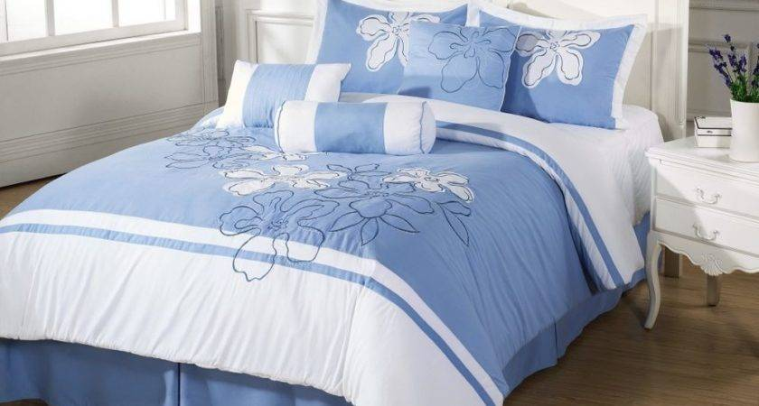 Final Sale Cielo Comforter Set Light Blue Floral